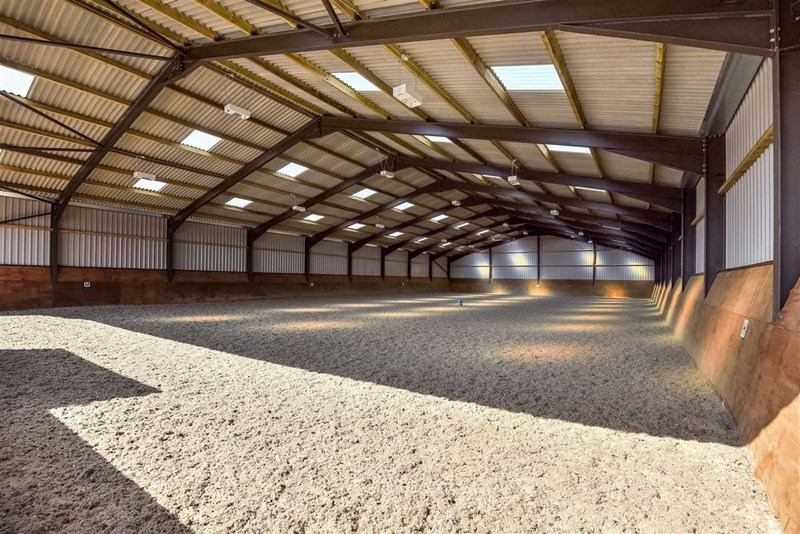Indoor equestrian arena at Hill Farm Equestrian