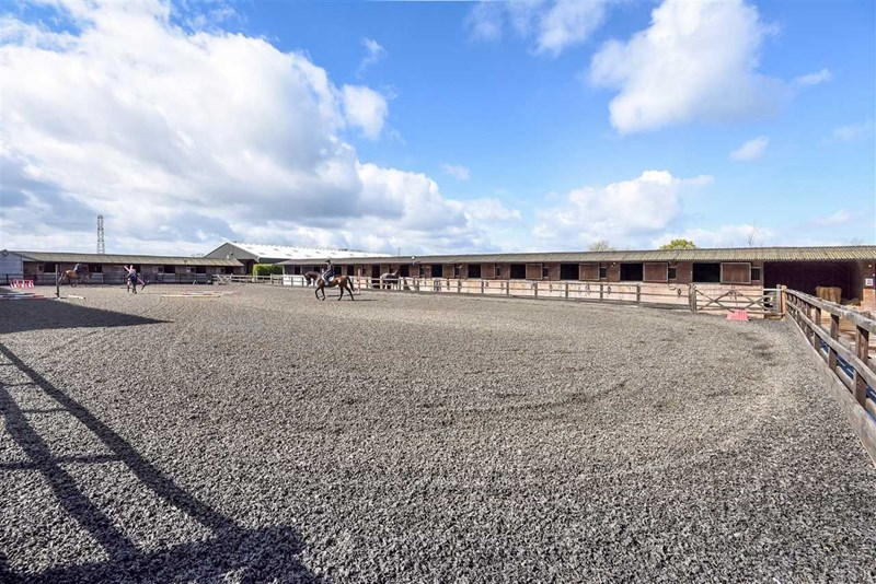 Outdoor equestrian arena at Hill Farm Equestrian