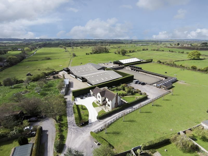 Aerial view of Hill Farm Equestrian