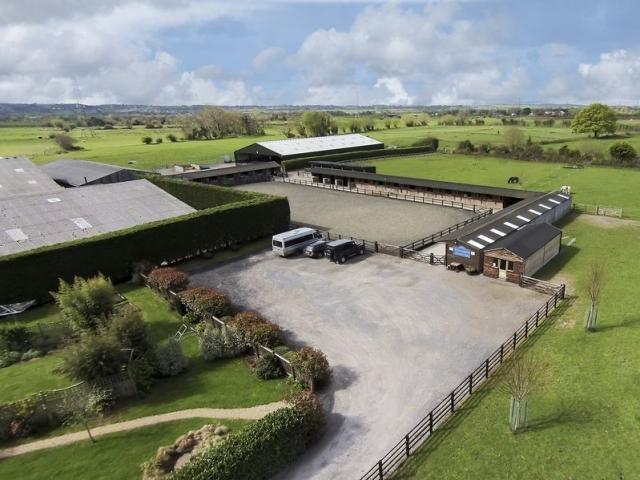Aerial view of Hill Farm Equestrian Parking