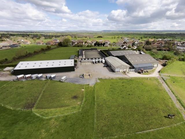 Aerial view of Hill Farm Equestrian
