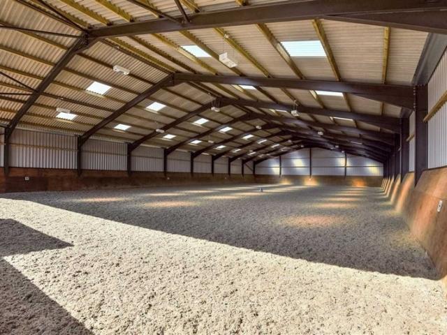 Indoor equestrian arena at Hill Farm Equestrian